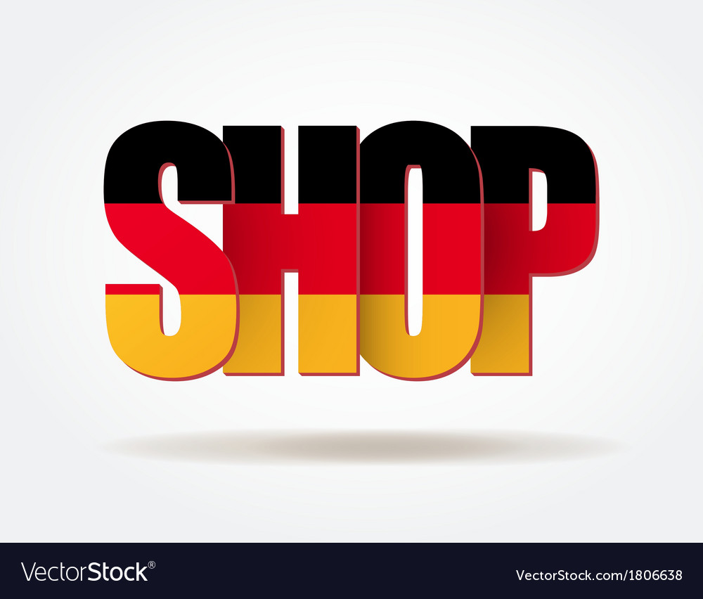 Typography Internet Logo German Shop vector image
