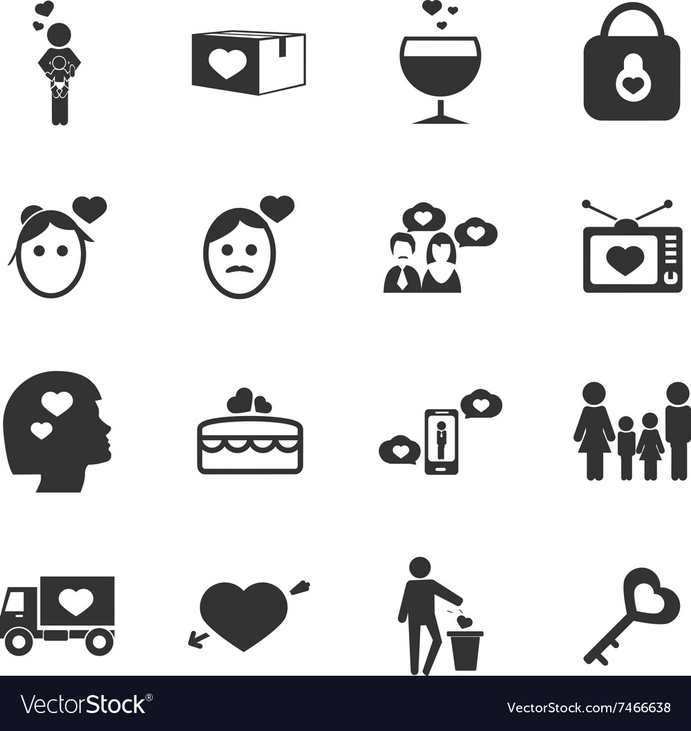 Valentine day icons set