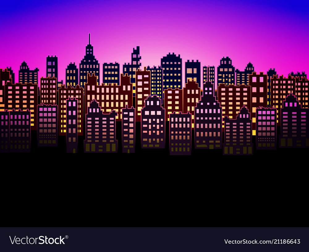 Neon city modern color nice background for urban