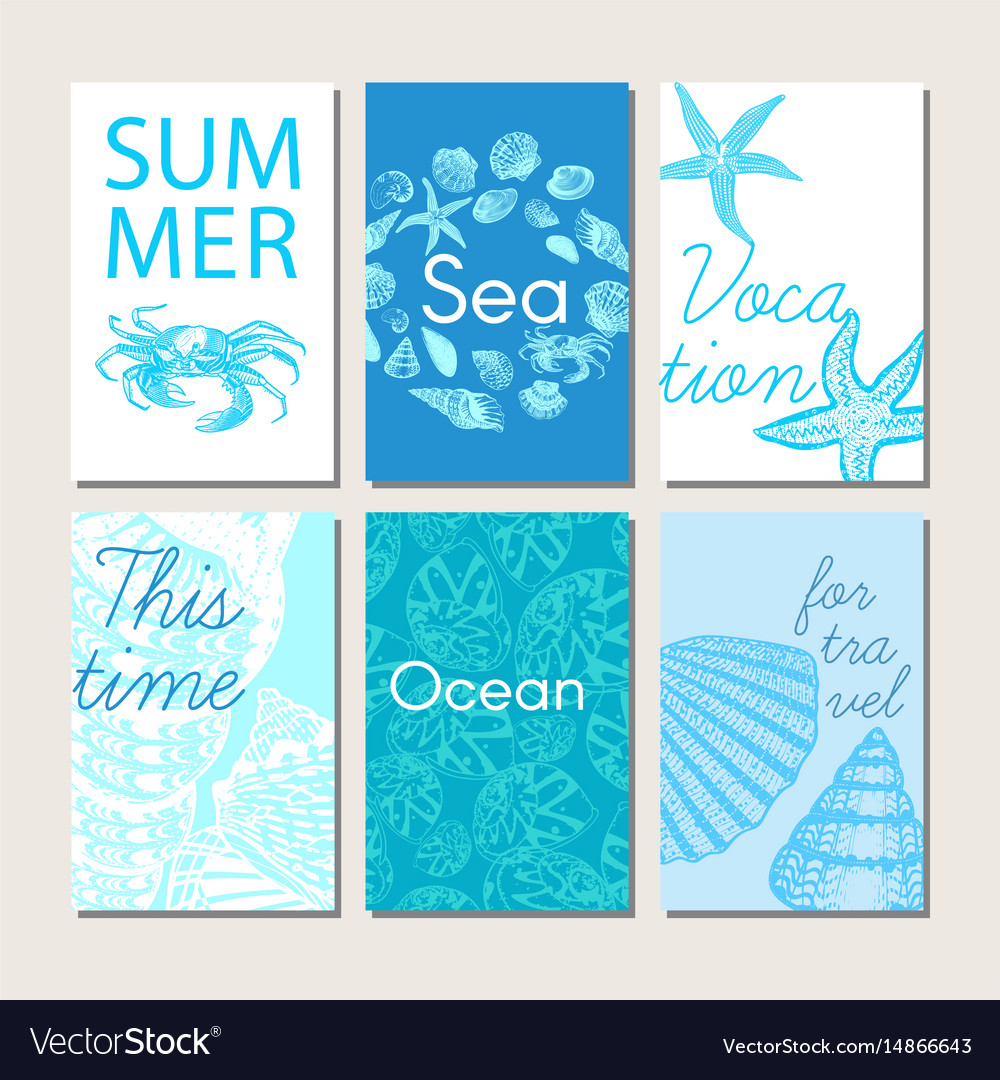 Ocean and sea nature life brochures