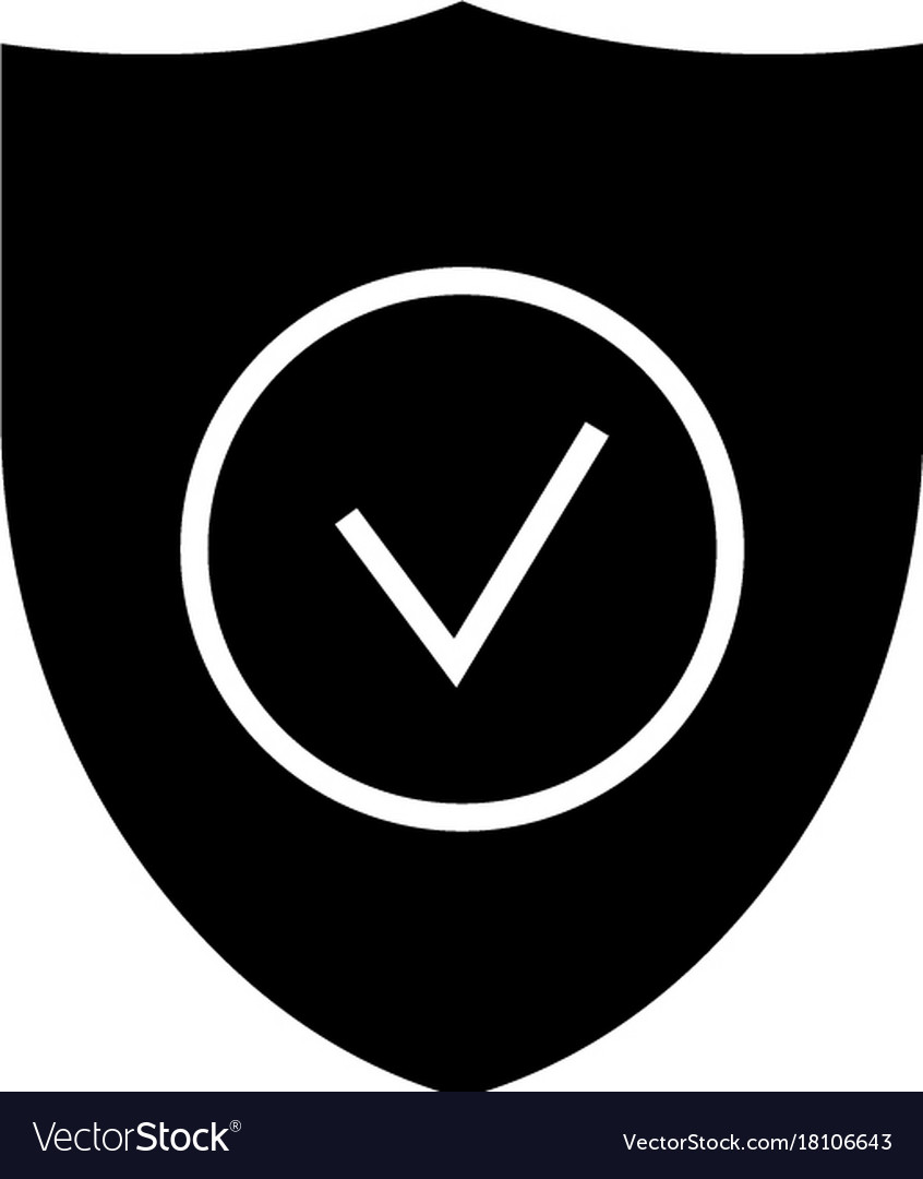Secure shield icon black