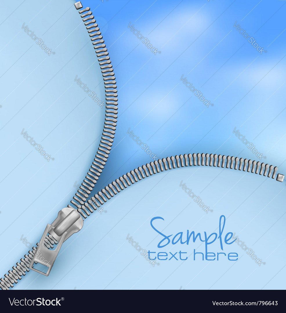Zipper sky backgorund