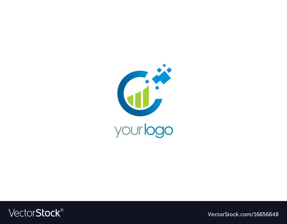 Business finance chart progress logo