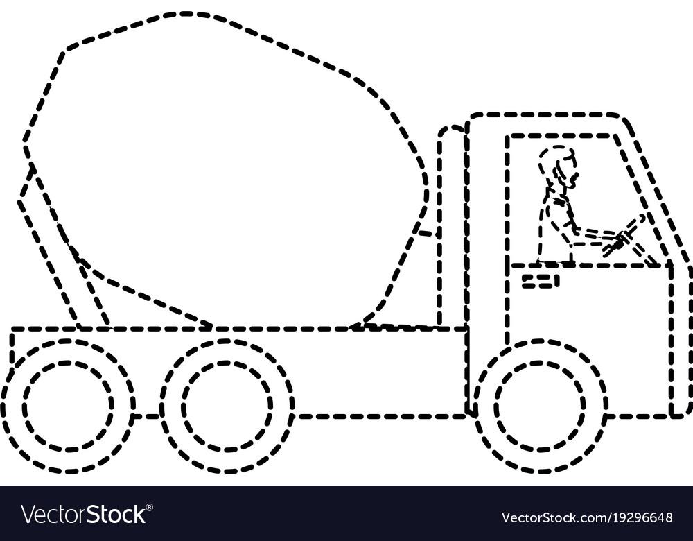 concrete mixer truck icon vector 19296648 concrete mixer truck icon royalty free vector image