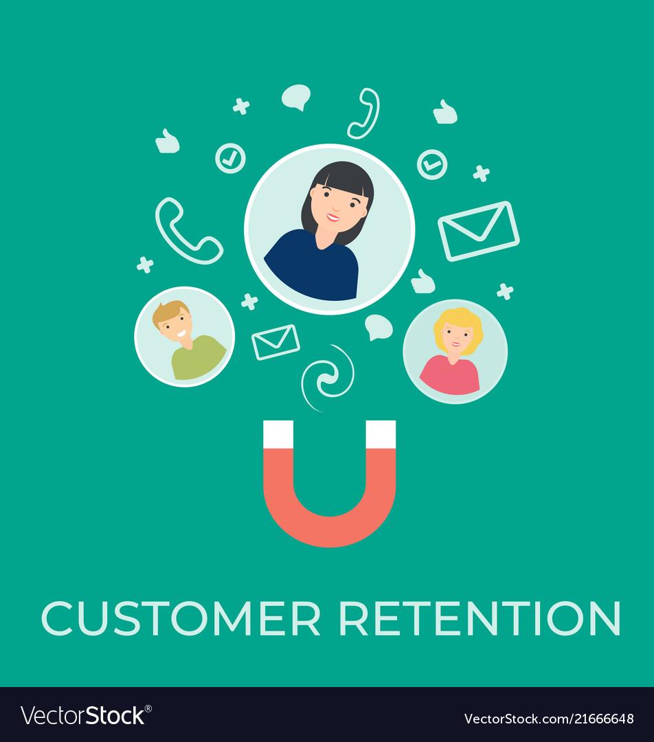 Customer retention flat