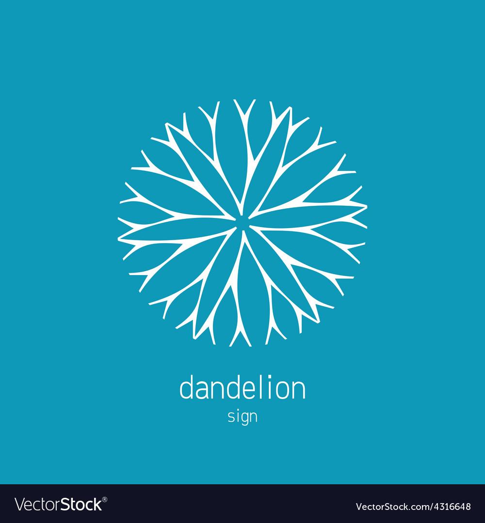 Dandelion logo template Cosmetics natural symbol vector image