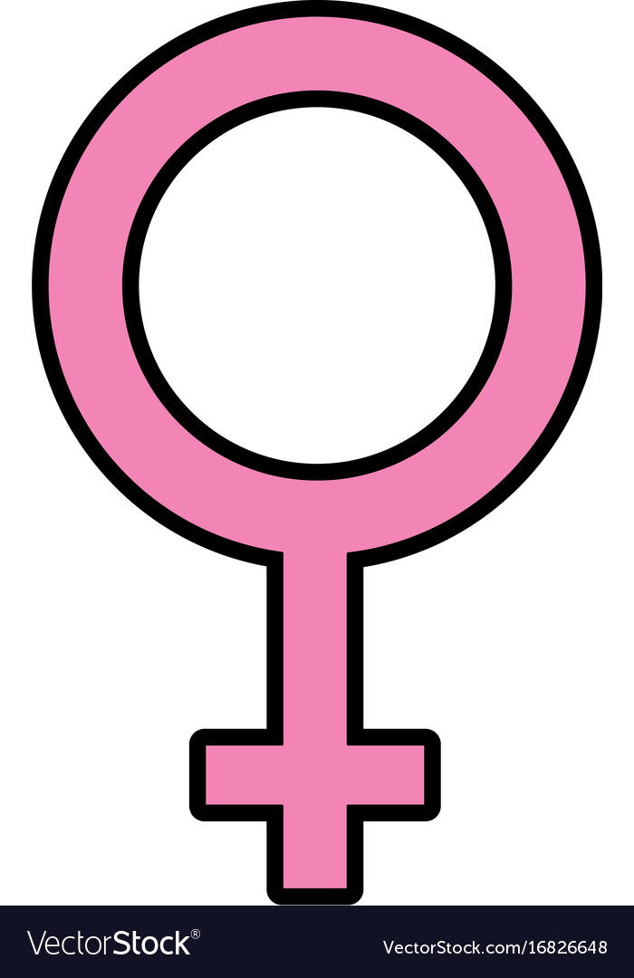 Femele Gender Symbol To Special Event Royalty Free Vector