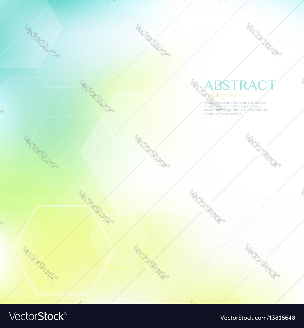 Geometric abstract background with hexagonal shape vector image