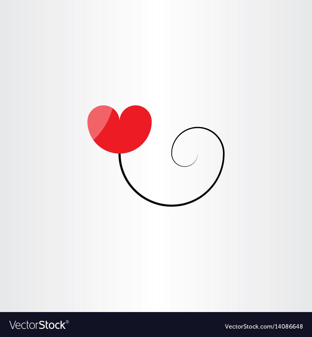 Heart balloon logo symbol