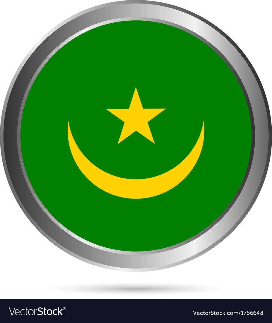 Mauritania flag button