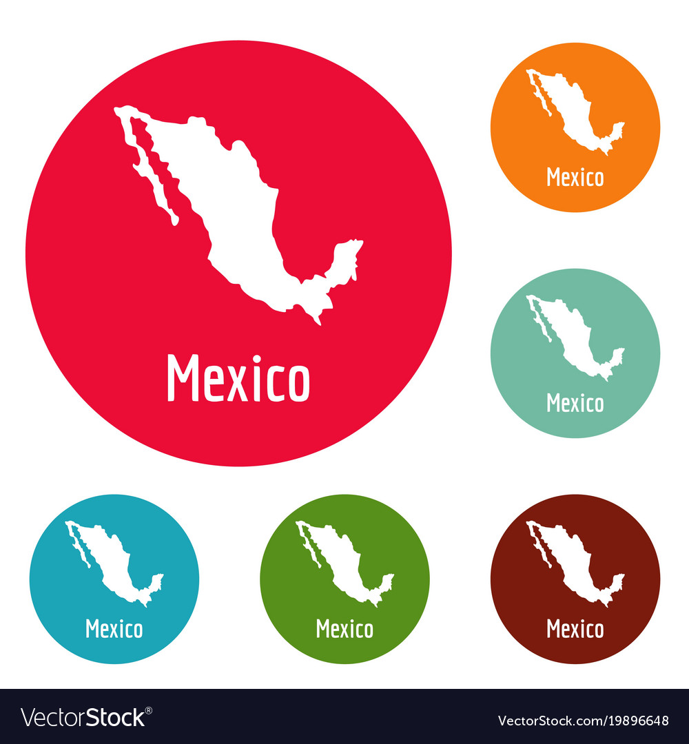 Mexico Map In Black Simple Royalty Free Vector Image