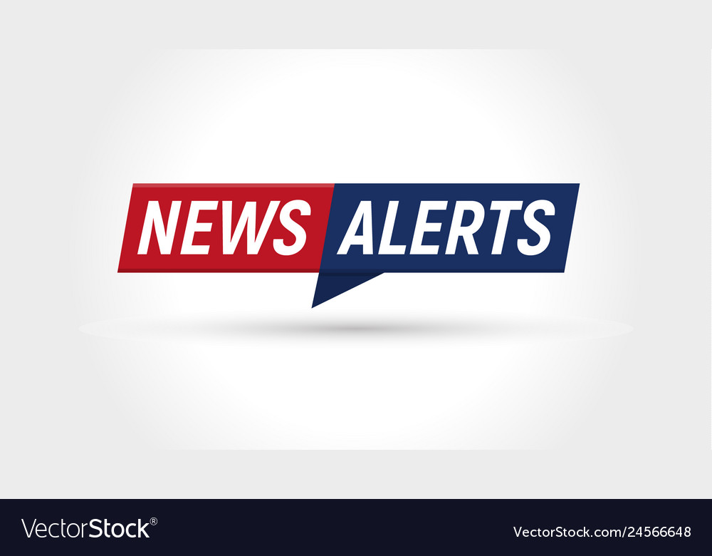 News icon breaking news alerts banner flat