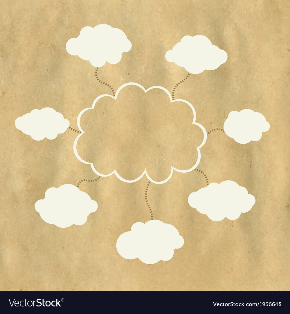 Old Paper And Web Cloud vector image