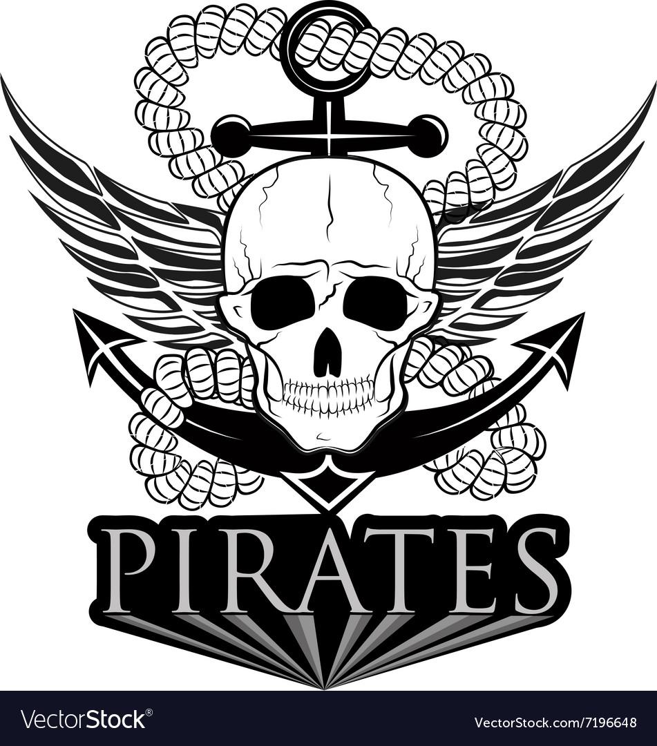Pirate themed design elements pirate symbol