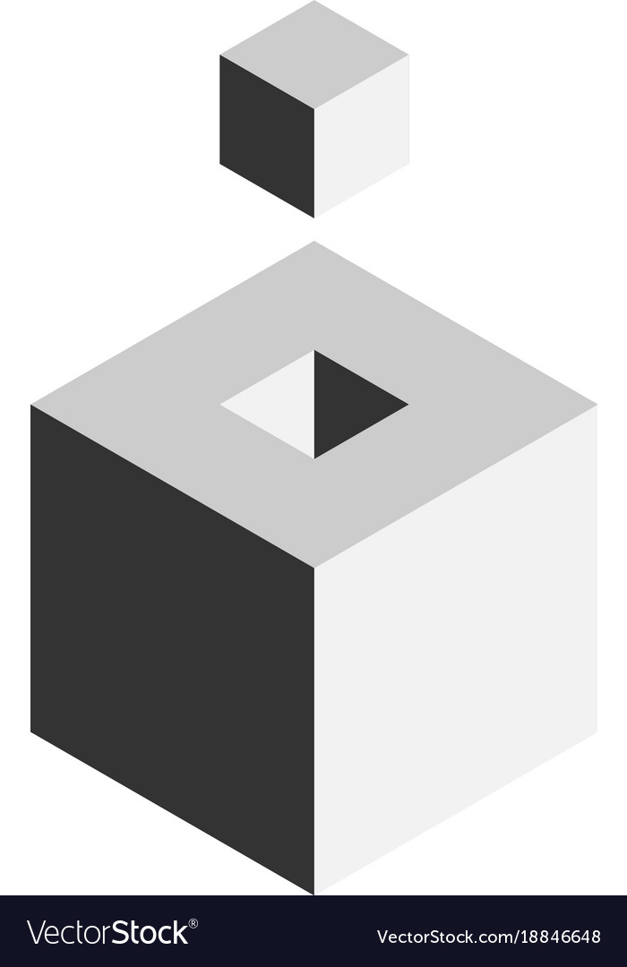 Solution design element concept block of 3d cubes