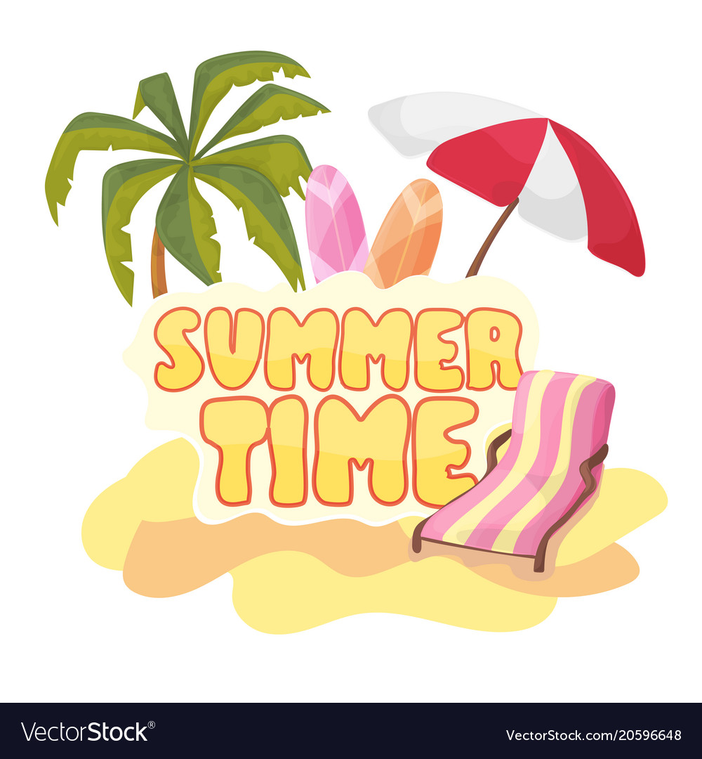 Summer time background banner design template and