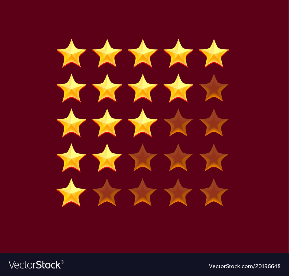 Tars rating isolated on red background
