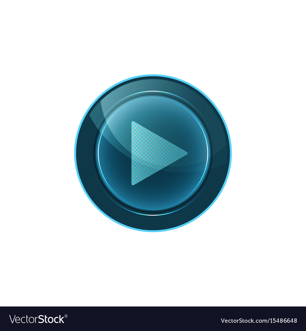 Web button play on white background design vector image