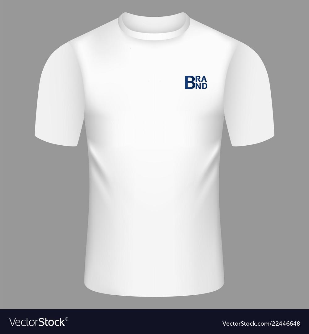 White tshirt icon realistic style