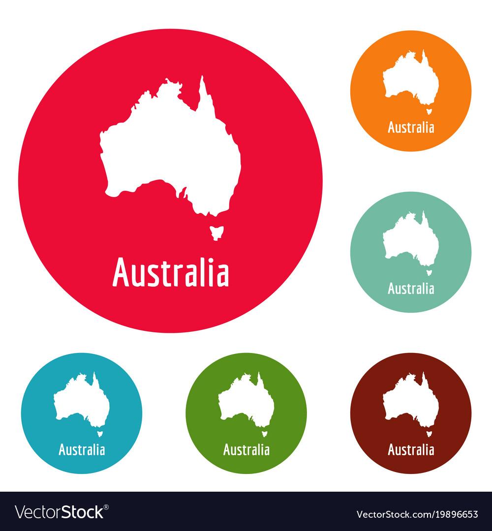 australia map in black simple vector image