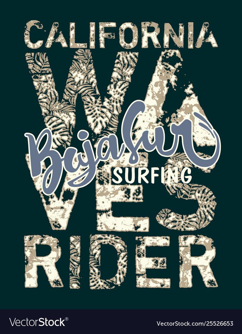 Baja sur california surf wave rider