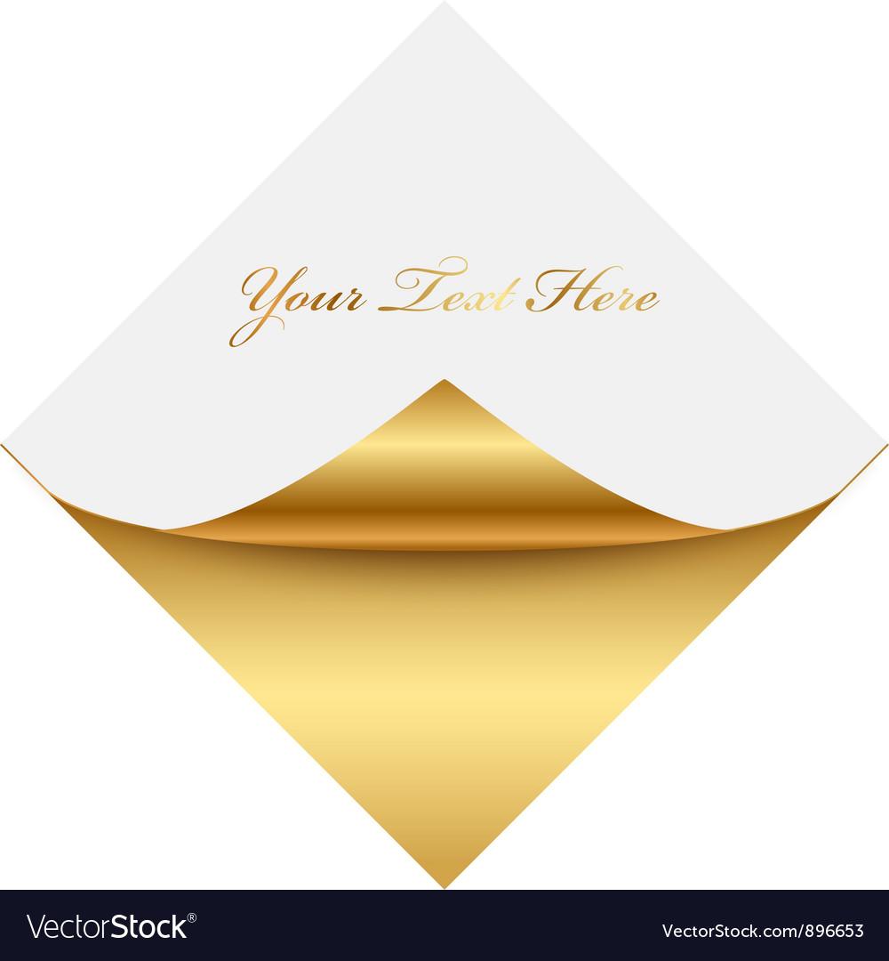 Gold gold square memo vector image