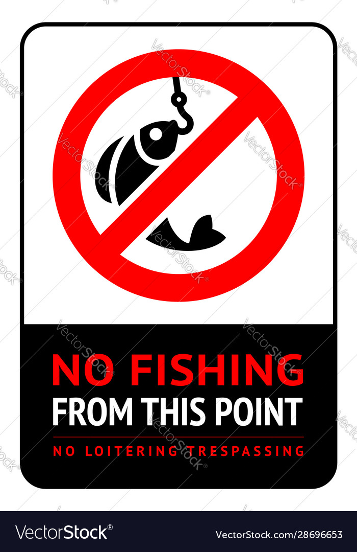 Label no fishing for print