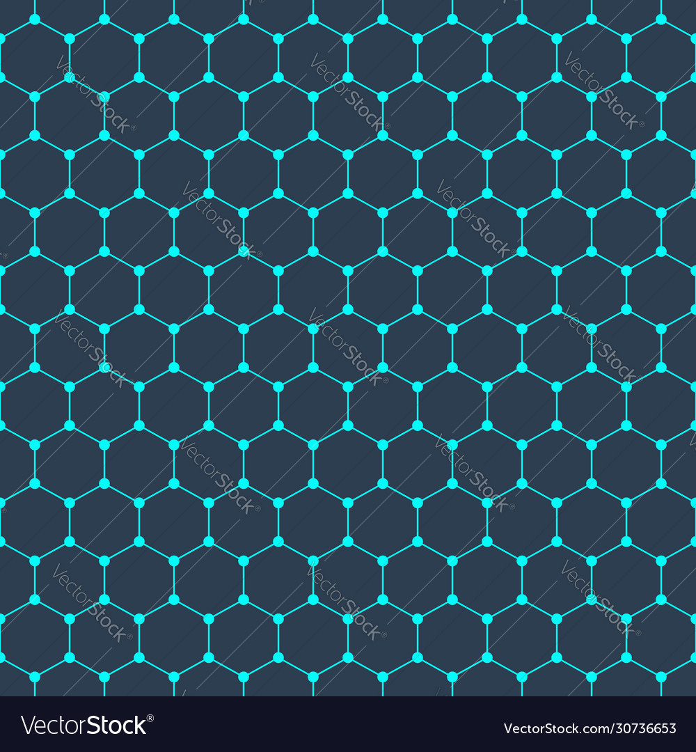 Molecular structure seamless pattern background