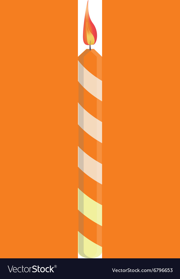 Orange birthday candle