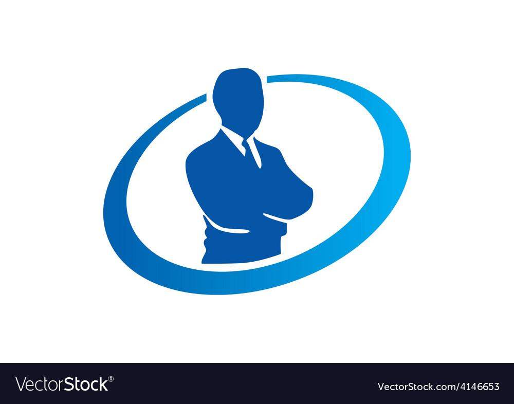 Success businessman abstract logo