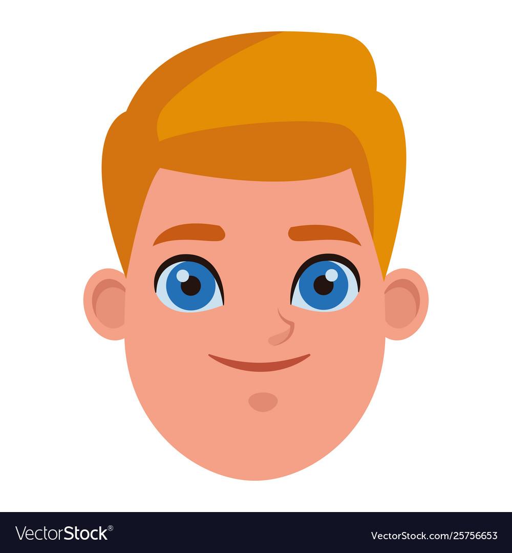 Young kid avatar carton character Royalty Free Vector Image