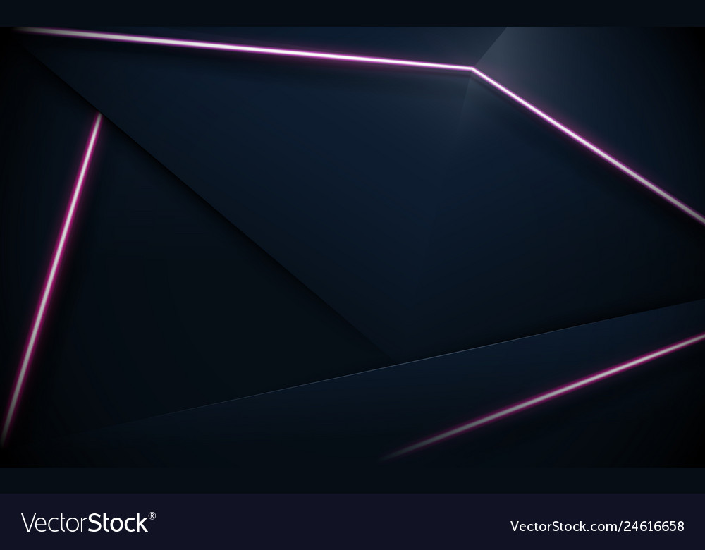 Abstract polygonal pattern luxury and purple neon