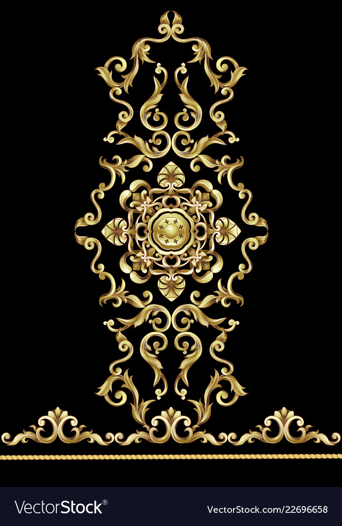Border with golden baroque elements