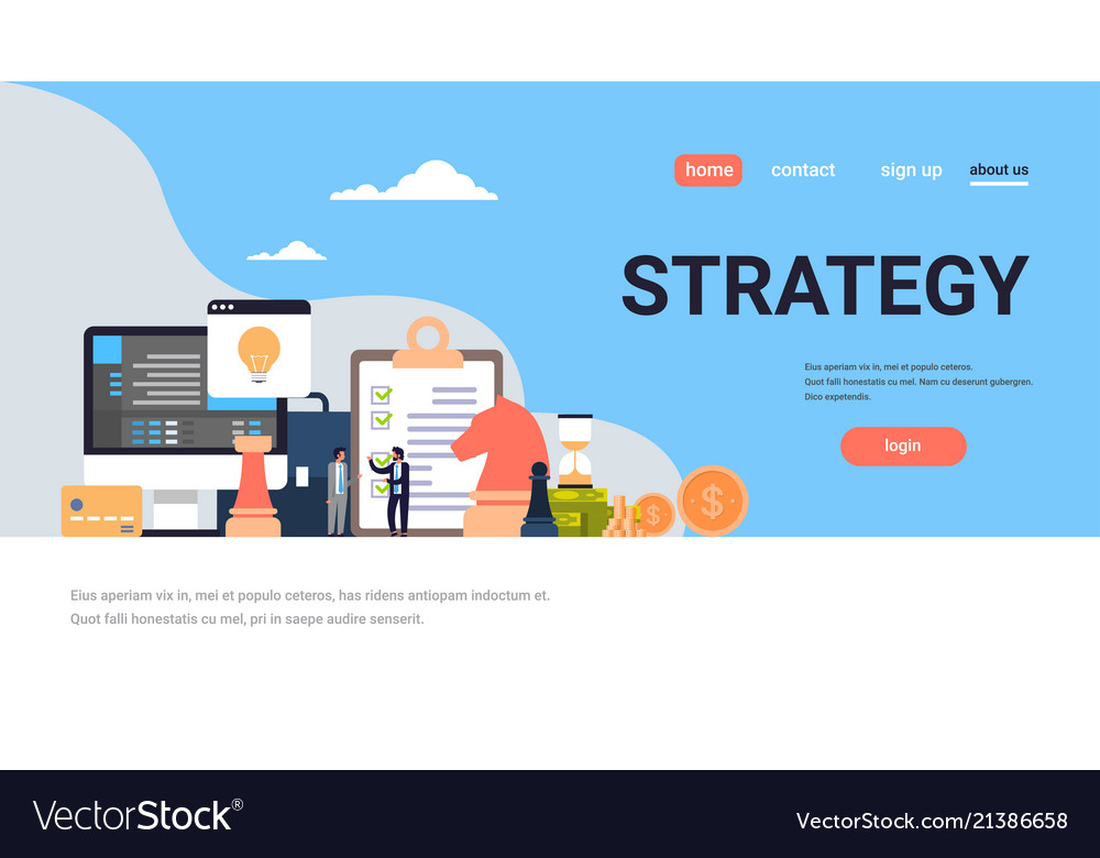 Business people brainstorming strategy concept