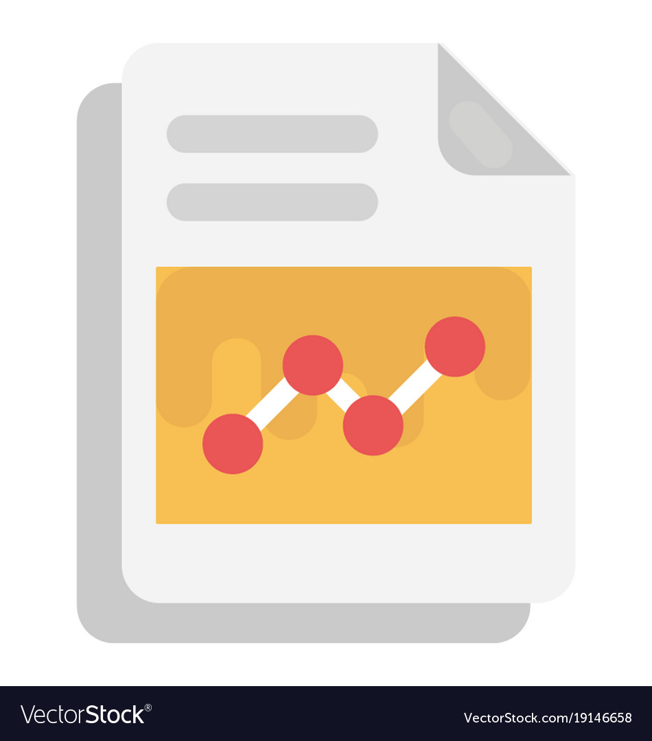 business report flat icon royalty free vector image
