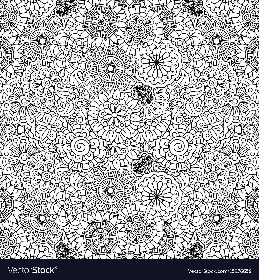 Floral ornamental decorative pattern