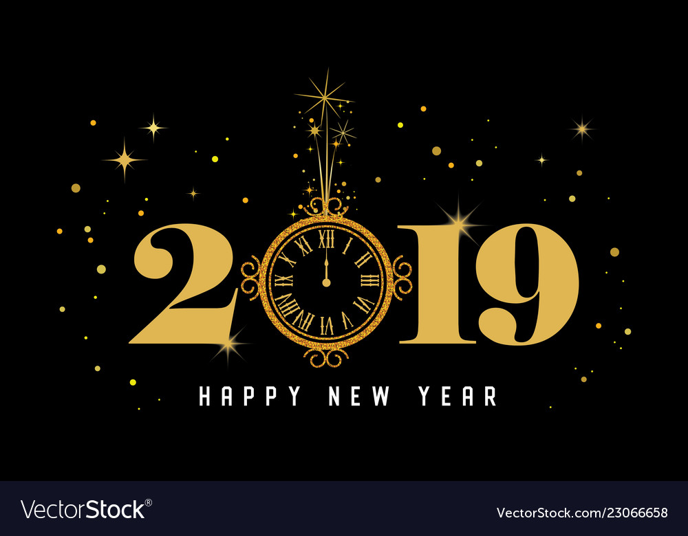 Happy new year 2019 - new year shining background