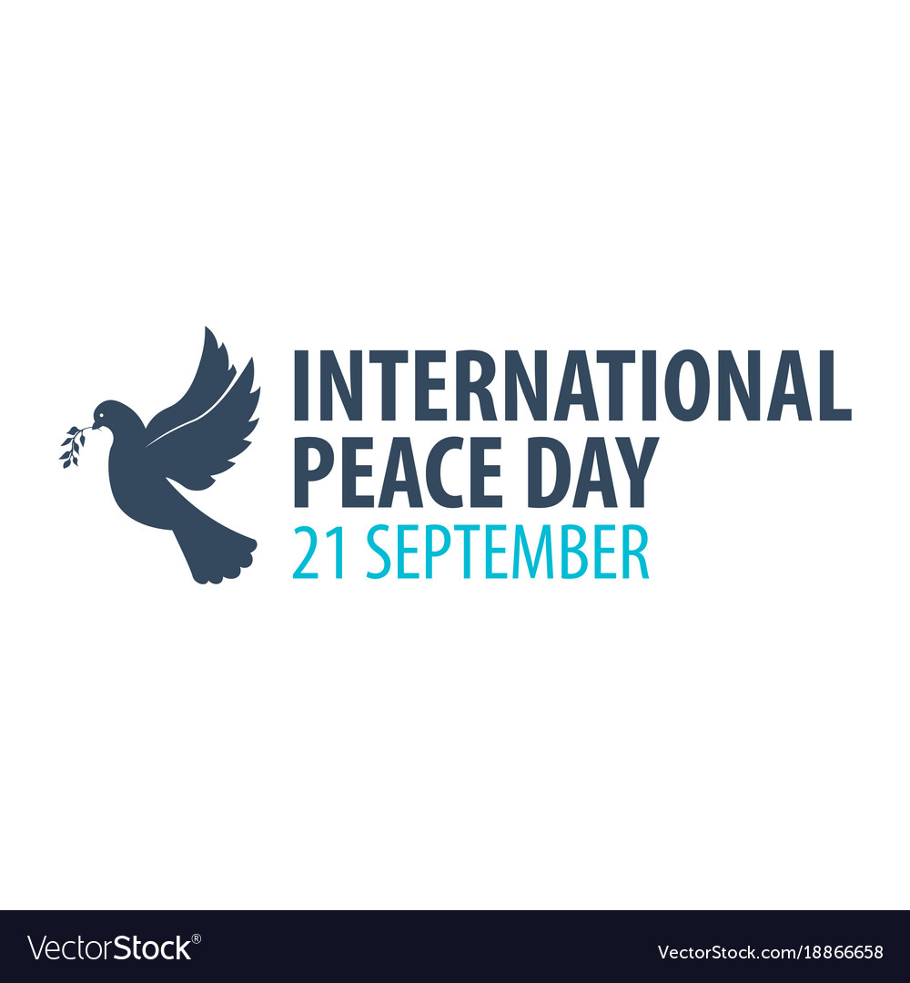 International peace day logo or emblem 21