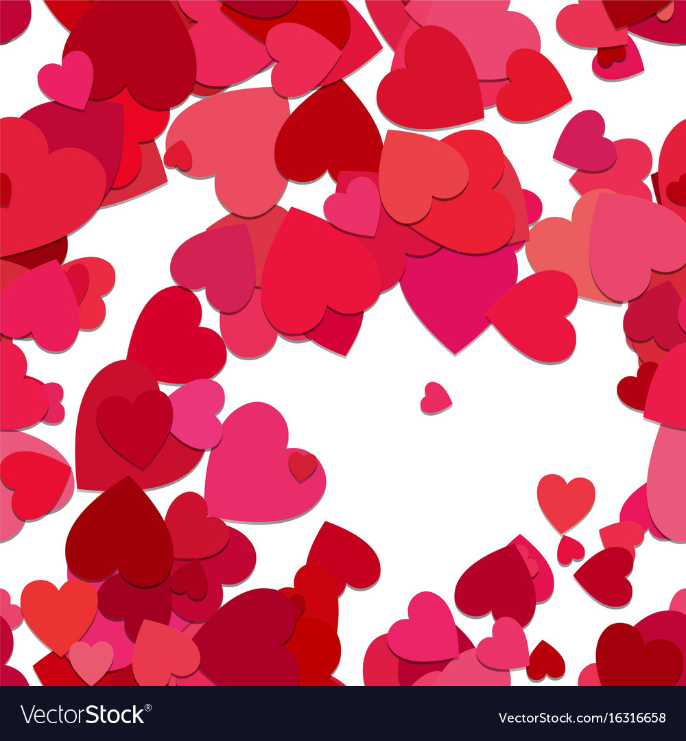 Red seamless heart background pattern