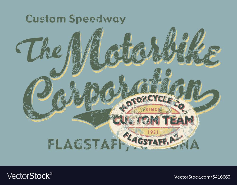 Custom Motorbike corporation vector image