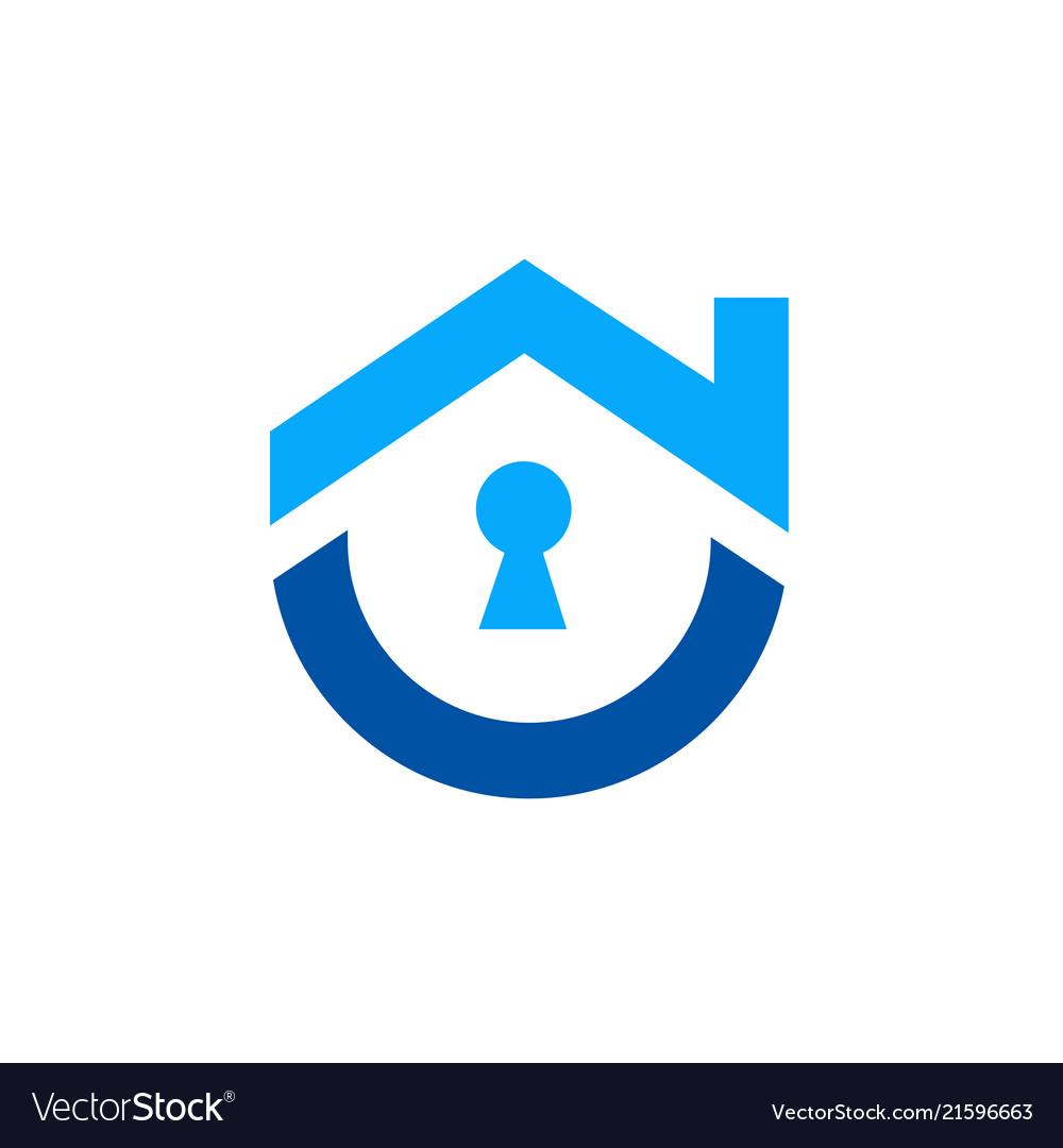 Cute home security logo