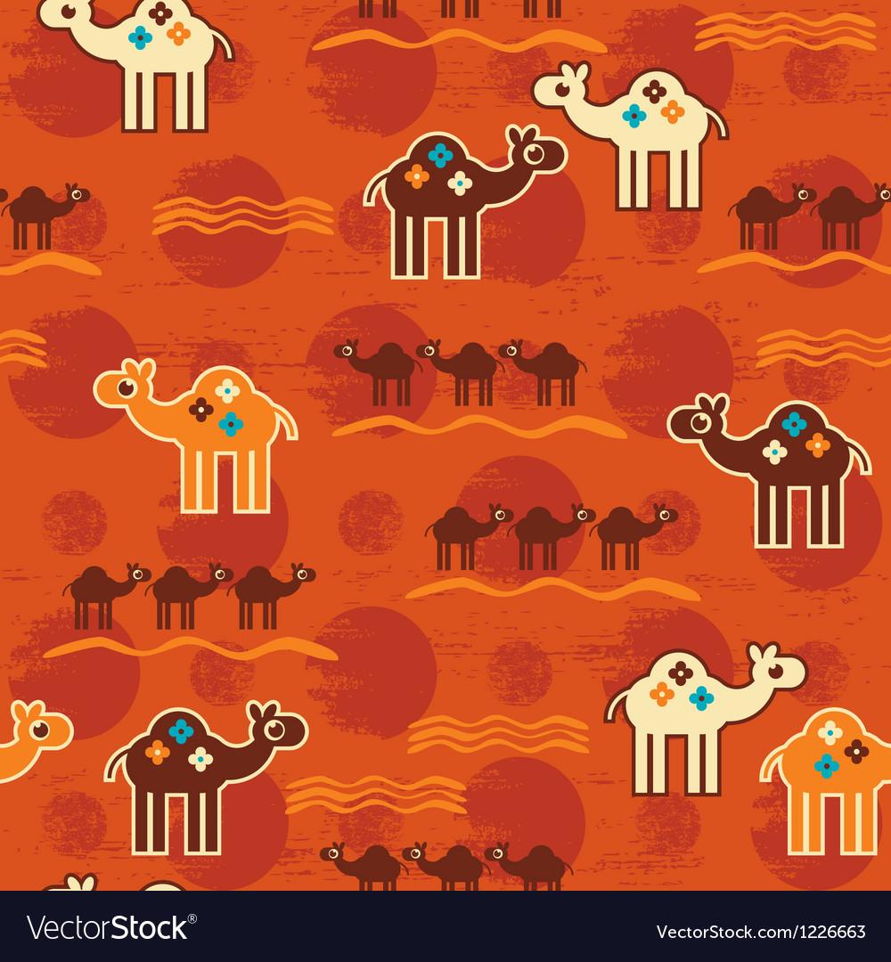 Desert seamless pattern vector image
