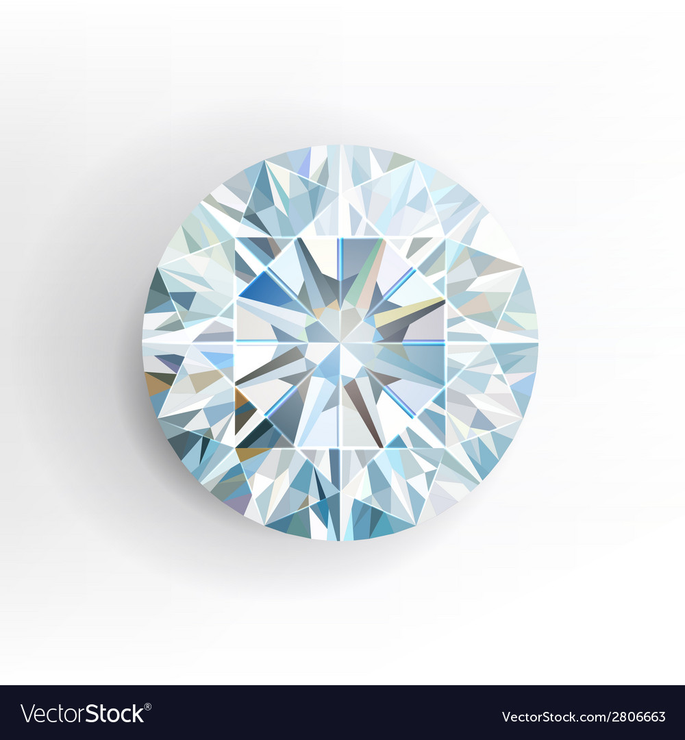 Diamond isolated on white background vector image