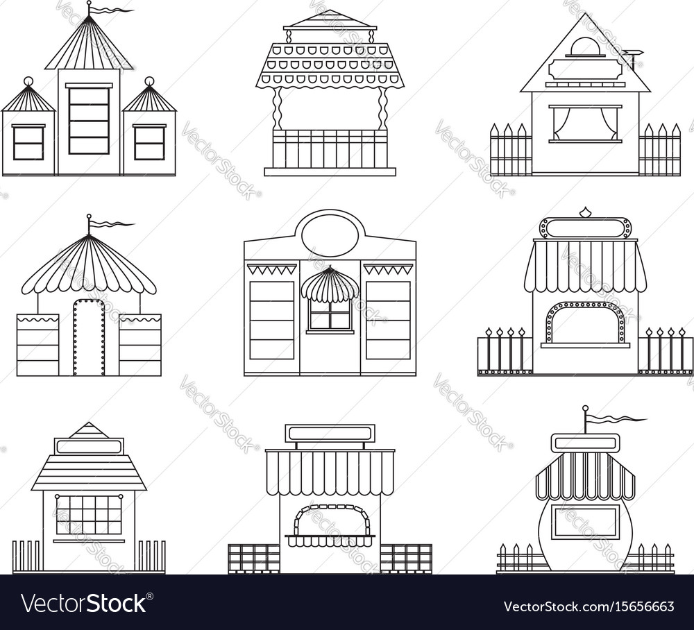 Fairy houses vector image