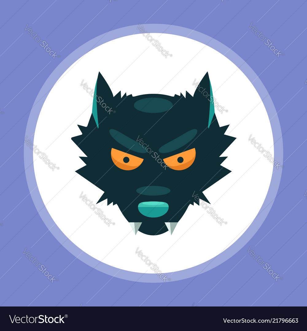 Halloween wolf icon sign symbol