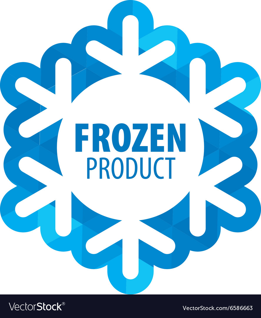 Logo for frozen products Royalty Free Vector Image