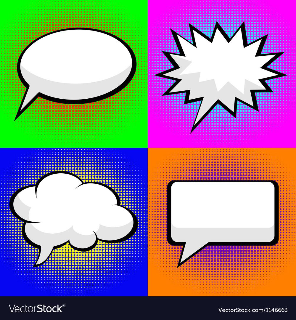 Pop art comic speech bubbles