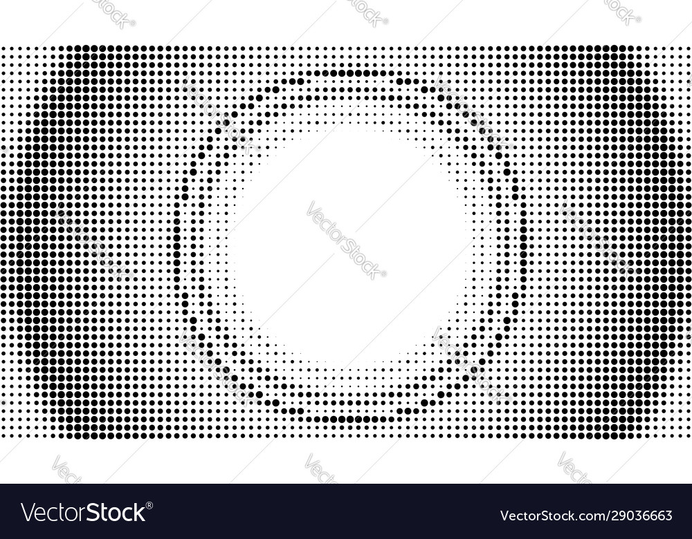 Round dotted abstract background halftone
