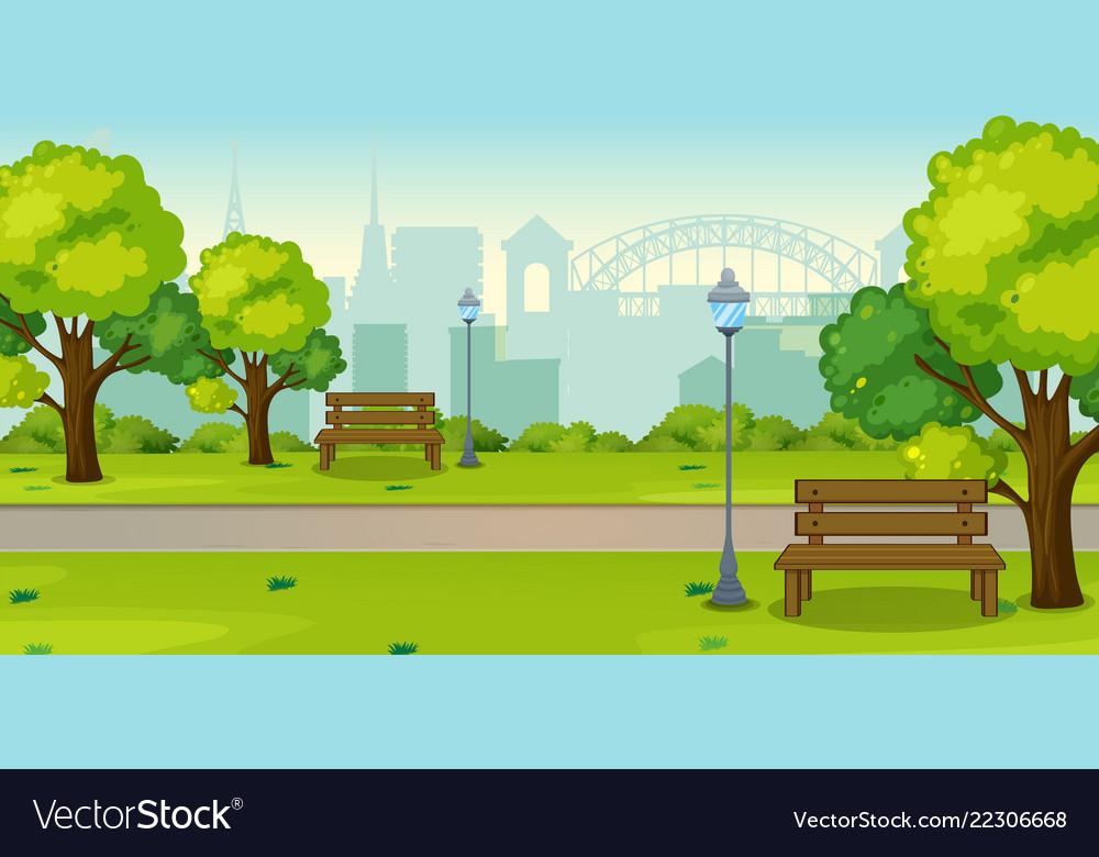 A park in urban city
