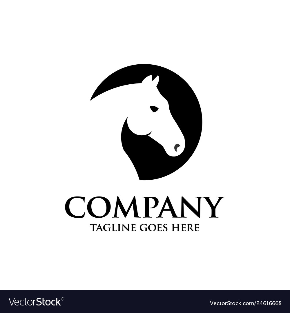Creative circle horse head logo design
